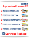 15 Cartridge Deal T273XL Epson Expression Premium XP Compatible Ink Cartridges