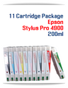 11 Cartridge Package Epson Stylus Pro 4900 Printer Compatible Ink Cartridges