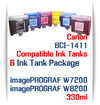 6 Ink Tank Package - BCI-1411 Canon Compatible Ink Tanks 330ml