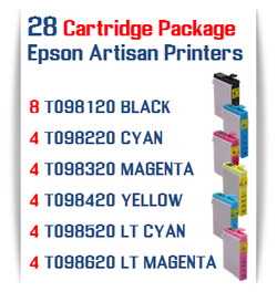 28 Cartridge Package Epson Artisan Compatible Printer Ink Cartridges