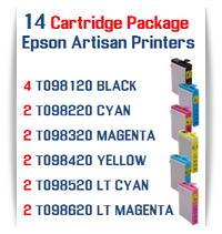 14 Cartridge Package Epson Artisan Compatible Printer Ink Cartridges