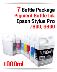 7 Color Package Refill Epson Stylus Pro 7600/9600 1000ml Pigment Ink