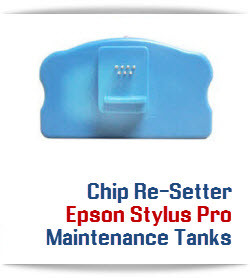 Chip Re-setter Compatible with Epson Stylus Pro 7800, 9800 printer Maintenance Tanks