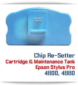 Chip Re-setter Compatible with Epson Stylus Pro 4800, 4880 printer Cartridge and Maintenance Tanks