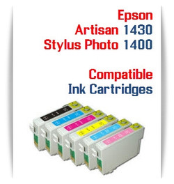 Epson Stylus Photo 1400, Artisan 1430 compatible ink cartridges