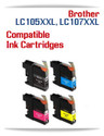 LC105XXL-LC107XXL Brother Compatible Printer Ink Cartridges