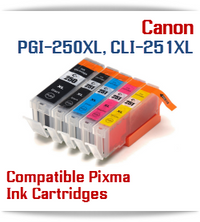 PGI-250XL, CLI-251XL Compatible Canon Pixma Printer ink cartridges