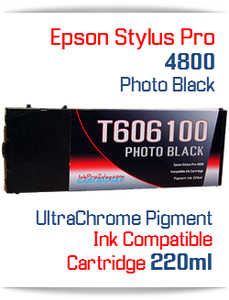 Photo Black Epson Stylus Pro 4800 Printer Compatible Ink Cartridge 220ml