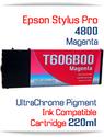 Magenta Epson Stylus Pro 4800 Printer Compatible Ink Cartridge 220ml