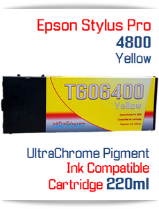 Yellow Epson Stylus Pro 4800 Printer Compatible Ink Cartridge 220ml