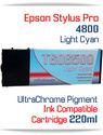 Light Cyan Epson Stylus Pro 4800 Printer Compatible Ink Cartridge 220ml