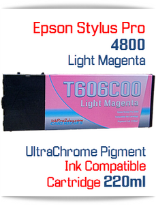 Light Magenta Epson Stylus Pro 4800 Printer Compatible Ink Cartridge 220ml