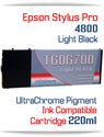 Light Black Epson Stylus Pro 4800 Printer Compatible Ink Cartridge 220ml