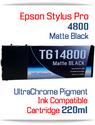 Matte Black Epson Stylus Pro 4800 Printer Compatible Ink Cartridge 220ml
