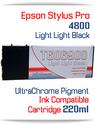 Light Light Black Epson Stylus Pro 4800 Printer Compatible Ink Cartridge 220ml