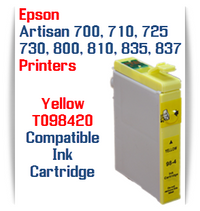 Epson Artisan Printer T098420 Yellow Compatible Ink Cartridge