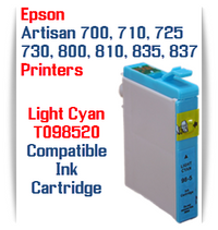 Epson Artisan Printer T098520 Light Cyan Compatible Ink Cartridge