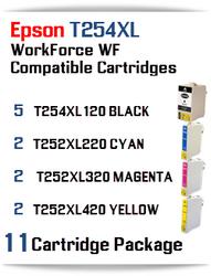 11 Ink Cartridge Package T254XL-T252XL Epson WorkForce WF printer compatible ink cartridges  WorkForce WF-7110 Printer  WorkForce WF-7210 Printer  WorkForce  WF-7610 Printer  WorkForce WF-7620 Printer  WorkForce WF-7710 Printer  WorkForce WF-7720 Printer