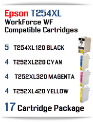 17 Ink Cartridge Package T254XL-T252XL Epson WorkForce WF printer compatible ink cartridges