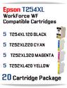 20 Ink Cartridge Package T254XL-T252XL Epson WorkForce WF printer compatible ink cartridges  WorkForce WF-7110 Printer  WorkForce WF-7210 Printer  WorkForce  WF-7610 Printer  WorkForce WF-7620 Printer  WorkForce WF-7710 Printer  WorkForce WF-7720 Printer