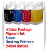 4 Color Package 240ml Bottle Pigment Ink Epson Small Desktop Printers