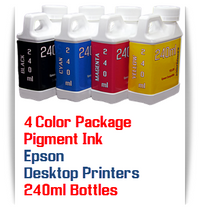 4 Color Package 240ml Bottle Pigment Ink Epson Small Desktop Printers