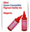 Magenta 90ml Bottle Pigment Ink Epson Desktop Small Format Printers