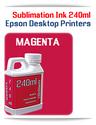 MAGENTA 240ml Epson Desktop printers compatible Sublimation Ink