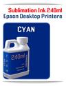 CYAN 240ml Epson Desktop printers compatible Sublimation Ink