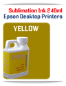 YELLOW 240ml Epson Desktop printers compatible Sublimation Ink