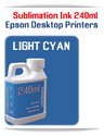 LIGHT CYAN 240ml Epson Desktop printers compatible Sublimation Ink
