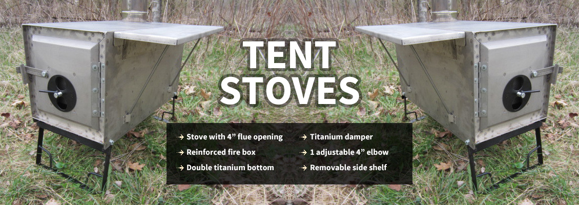 By Four Dog Stove - Four Dog Stoves Camp Cookware, Titanuim Stoves, Camp & Tent Stoves