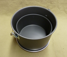 Here's a picture of the smaller pot nesting inside the larger pot--very compact and easy to carry.