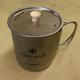 Snow Peak 600 with optional titanium lid (with holes) for straining liquids