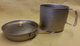 Here's the 1400 with the titanium lid on the frypan, which is also the lid for the 1400 if you do not have an aftermarket titanium lid.