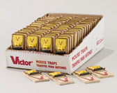 Case of 72 - Victor Professional Wooden Mouse Traps
