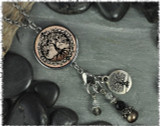 Tree of Life Brown Reversible Circular Charm & Bead Pendant