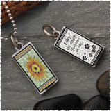 Sunflower Green Reversible Rectangular Pendant