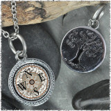 "Compass ""Tree"" Pendant"