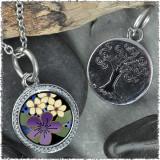 """Purple Flower """"Tree"""" Pendant"""
