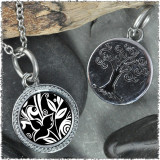 "Flower Black ""Tree"" Pendant"