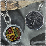 "Scroll Abstract ""Tree"" Pendant"