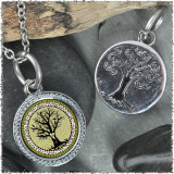"Vintage Tree of Life Green ""Tree"" Pendant"