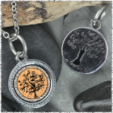 "Vintage Tree of Life Orange ""Tree"" Pendant"
