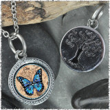 "Monarch Blue ""Tree"" Pendant"