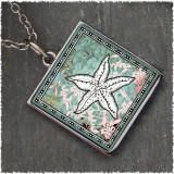 Starfish Reversible Square Pendant