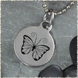 Butterfly Reversible Stainless Steel Pendant