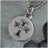 Cross Faith Reversible Stainless Steel Pendant