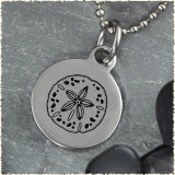 Sand Dollar Reversible Stainless Steel Pendant