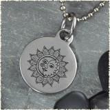 Sun Moon Reversible Stainless Steel Pendant